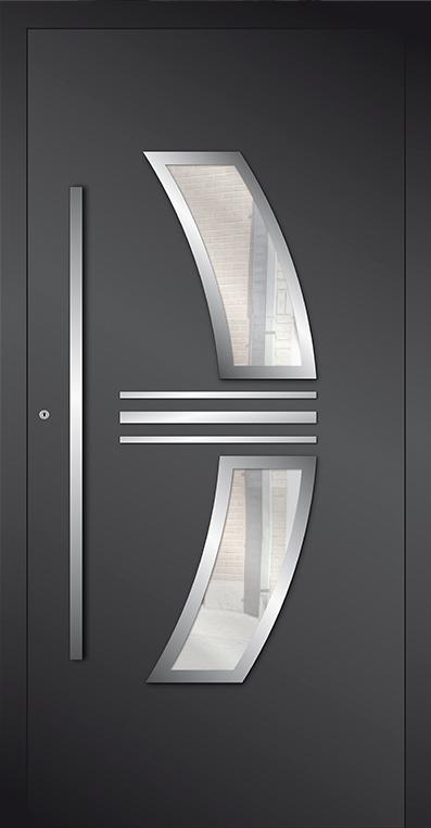 LIM AP15 - porte d'entrée vitrée en aluminium