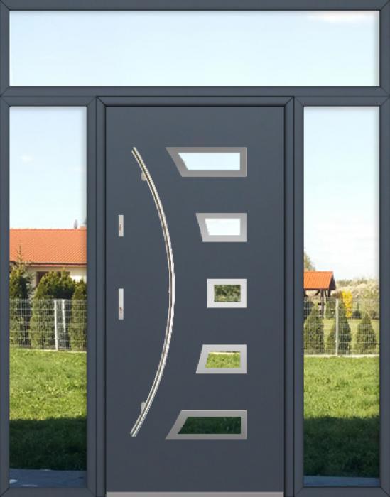configuration personnalisée - Porte Fargo avec panneaux latéraux décoratifs gauche, droit et supérieur