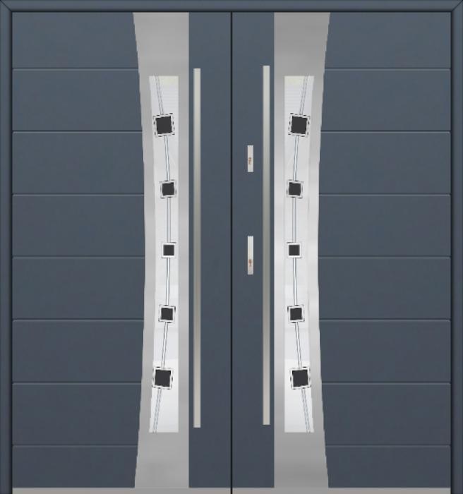 Fargo 37 double - porte d'entrée double / portes françaises