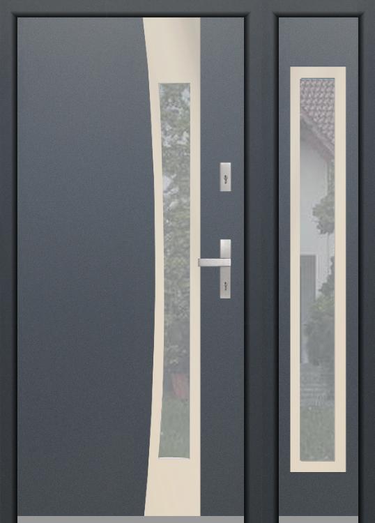 configuration personnalisée - Porte Fargo sans panneau latéral droit (vue de l'extérieure)