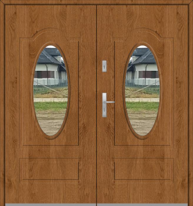 Fargo 8 double - porte d'entrée double vitrée