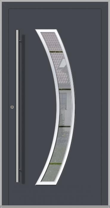 LIM Bumerang - porte principale vitrée en aluminium