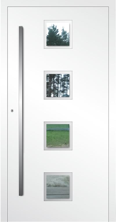 LIM AP08 - porte d'entrée vitrée en aluminium