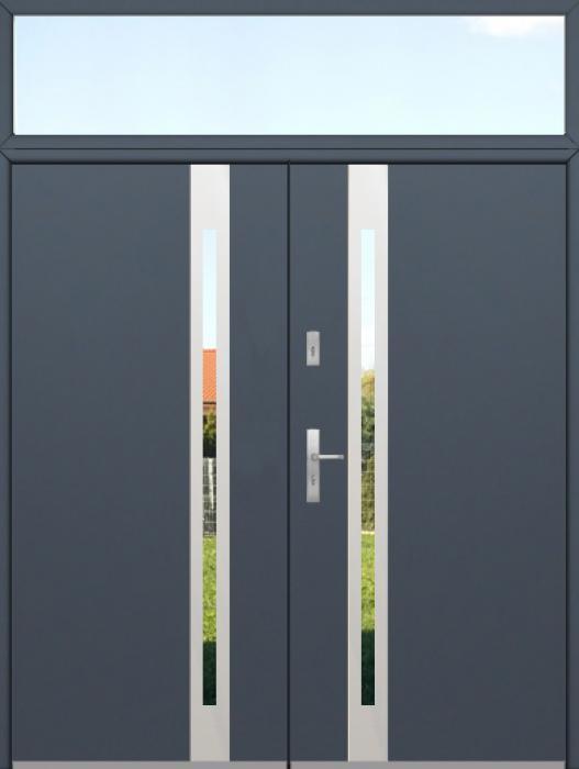 configuration personnalisée - Porte double Fargo avec fenêtre latérale supérieure