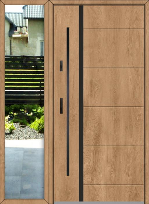 configuration personnalisée - Fargo porte d'entrée avec fixe latéral à gauche (vue de l'extérieur)