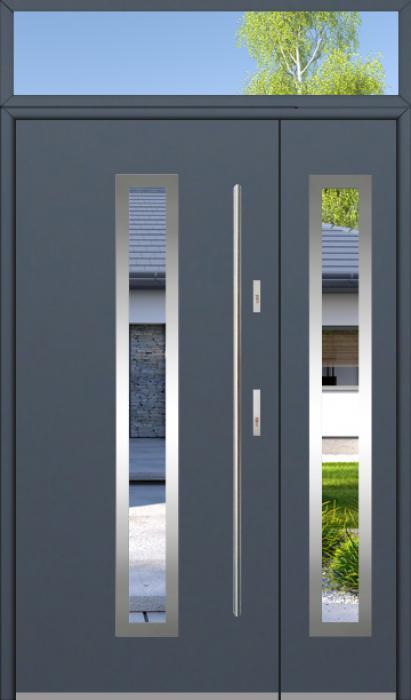 configuration personnalisée - Fargo porte d'entrée avec panneau latéral et haut fixe latéral