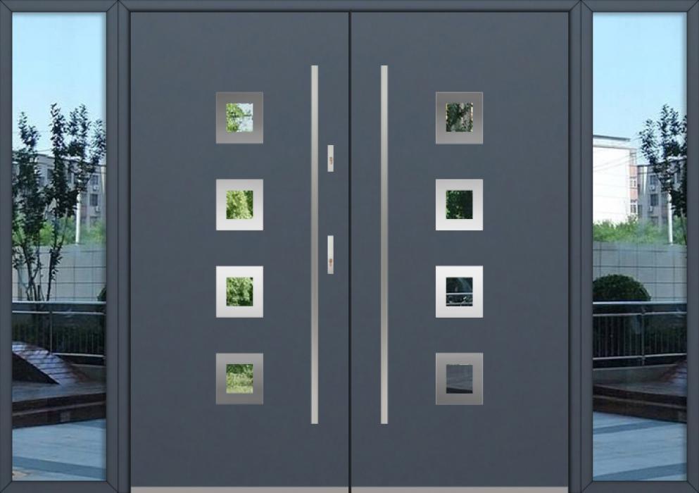 configuration personnalisée - Double porte Fargo avec fenêtres latérales gauche et droite