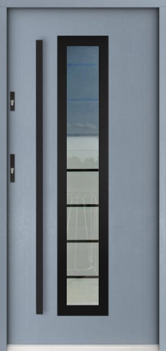 Sta Hevelius noir - porte entree vitree