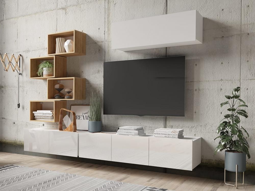 Cela 29 - Meuble TV moderne finition ultra-brillante