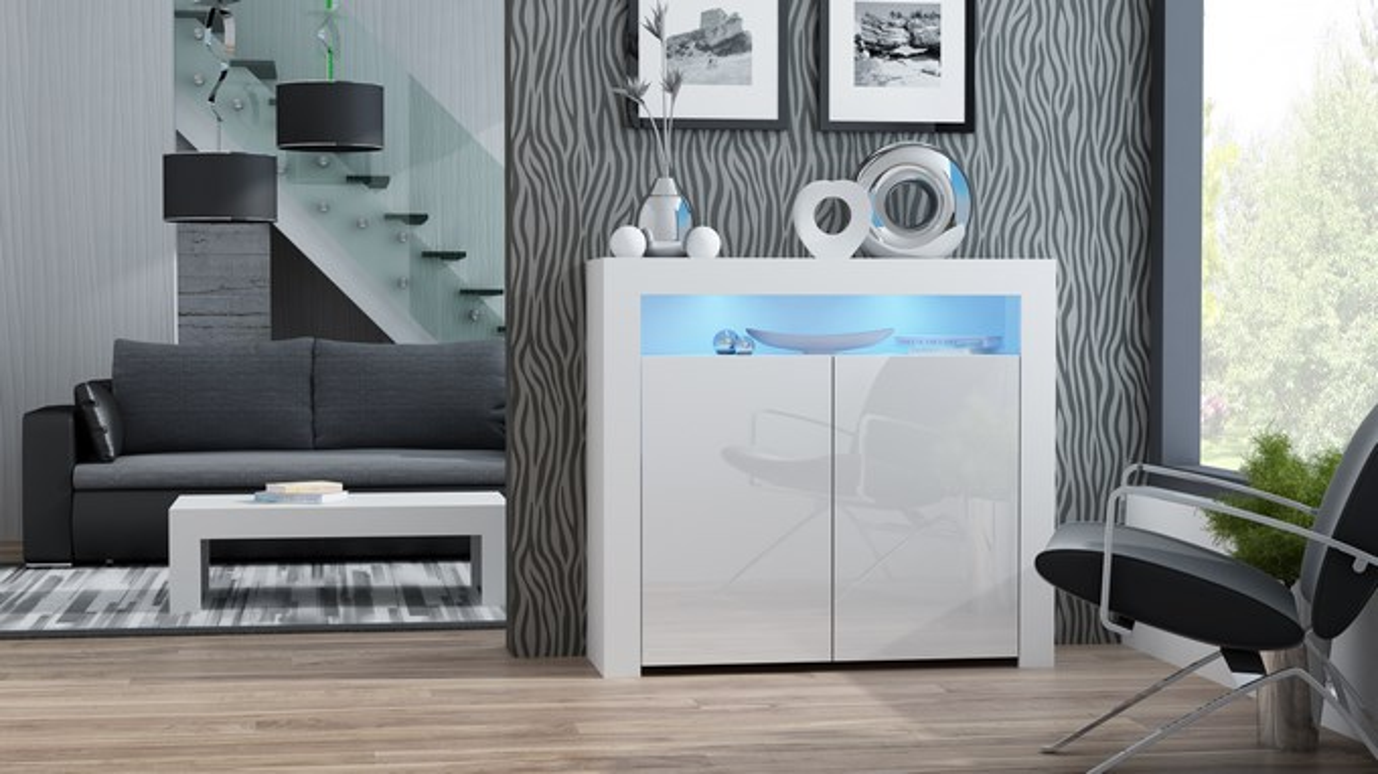 Buffet Milano 2D - blanc design commode