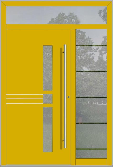LIM porte d'entrée avec fixe latéral à droite et en haut (vue de l'extérieure)