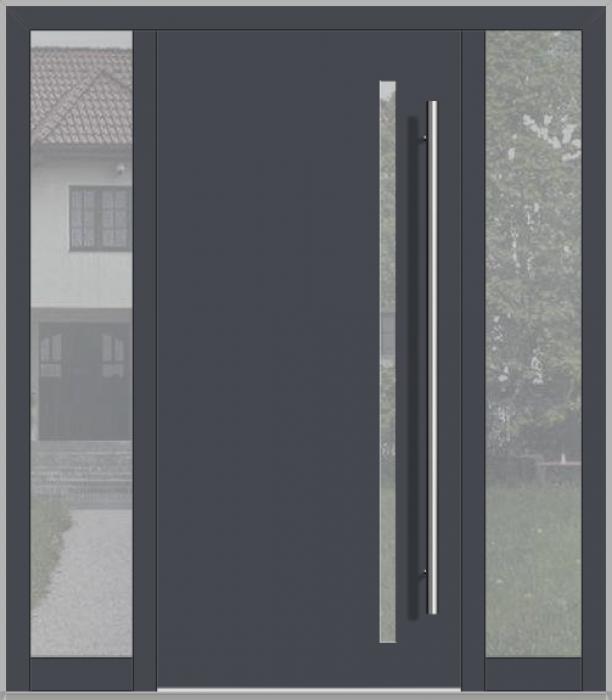 LIM porte d'entrée avec fixe latéral gauche et droite (vue de l'extérieure)
