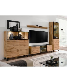 Moderne Salon Meubles Tv Mural Meubles Tv Modulable Design Domadeco