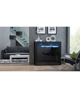 Milano Sideboard 2D - noir petite commode