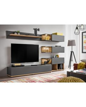 Simi - anthracite meuble tv led