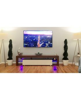 Milano 200 - noyer meuble tv led